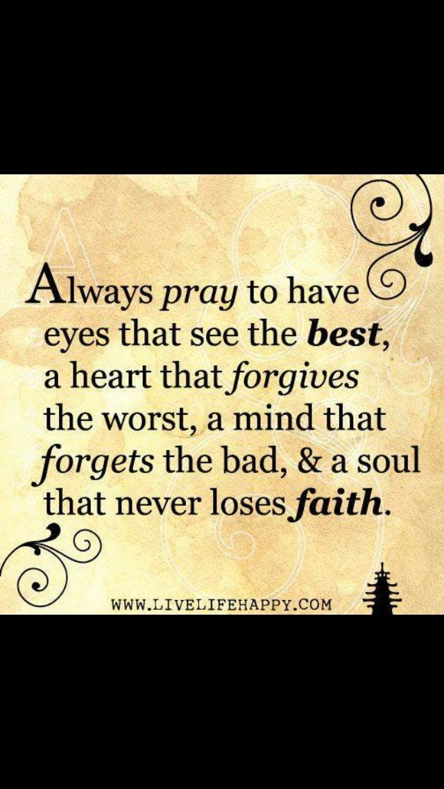 Be a forgetful, forgiving, optimistic Christian