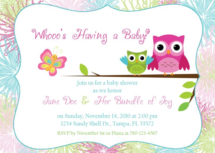43 best baby shower images on Pinterest Owl babies, Owl baby - editable baby shower invitations