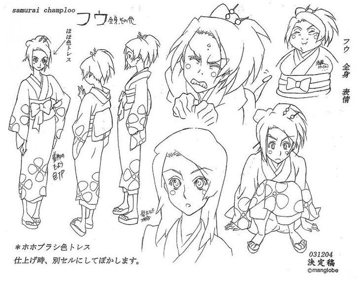 Samurai Champloo - Character Design Page