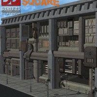 http://www.daz3d.com/streets-of-dystopia-nexus-square