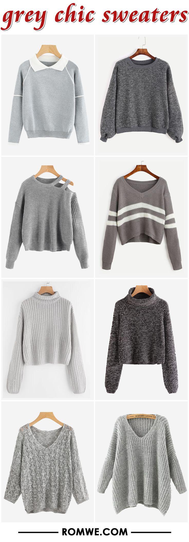 black friday sale - grey chic sweaters 2017 - rowme.com
