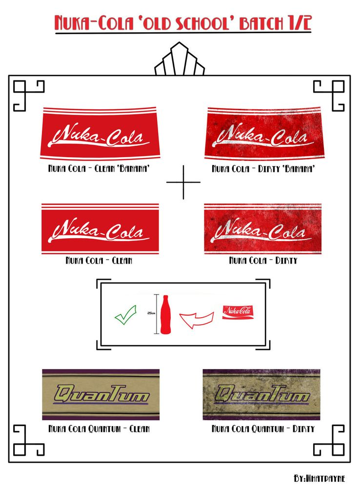 Great Nuka Cola labels for making your own Nuka Cola and Nuka Cola Quantum