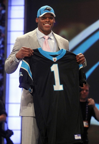So glad the Panthers made Cam the #1 pick.  Hopefully, we can win several Super Bowls with him as QB!