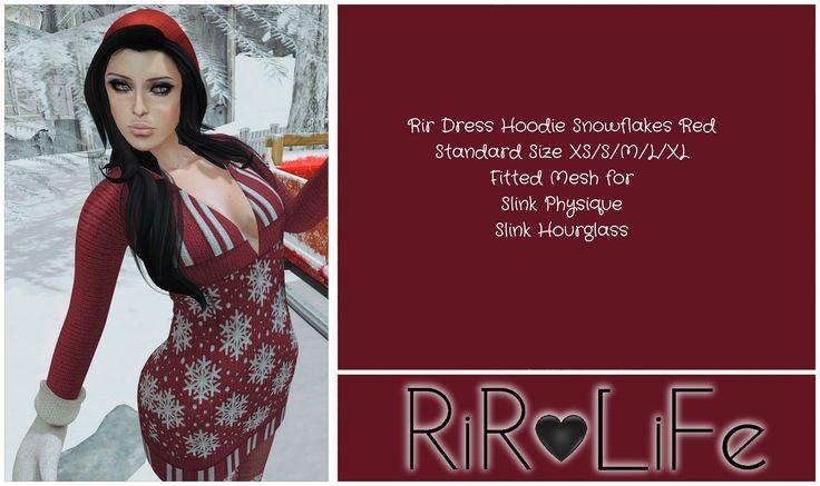 https://flic.kr/p/Nxf16d | Rir Dress Hoodie Snowflakes RedPIC | rir-life.blogspot.it/2016/12/rir-life-design-releases-dec...