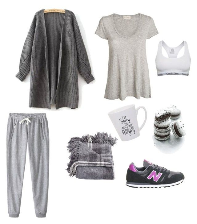 """""""Cozy"""" by alixist-1 on Polyvore featuring moda, Calvin Klein, American Vintage e New Balance"""