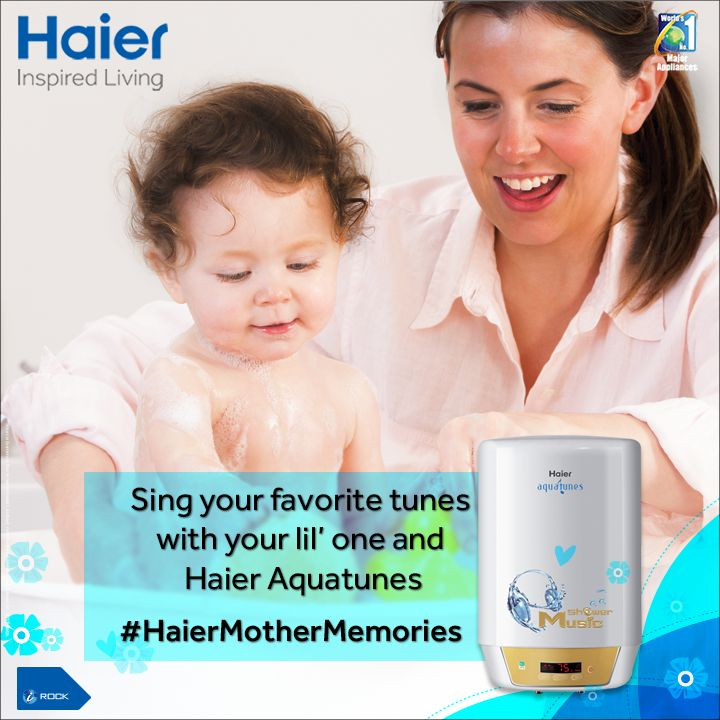 Bath time is going to be fun now with #Haier #Aquatunes.