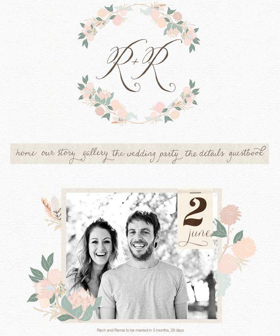 Rachel and Ramai's gorgeous wedding website!
