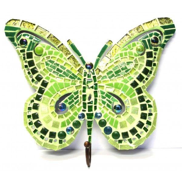 Kit mosaique papillon vert avec crochet