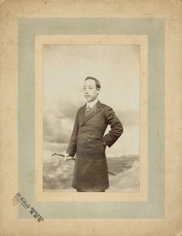A Young Noble Man's Portrait  M. Kikuta Photo Studio(Seoul), A Young Noble Man's Portrait, 8.6x5.7cm, 1900s