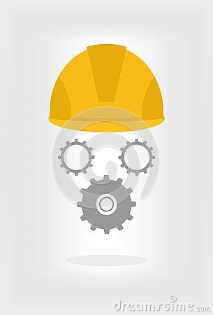 Helmet with gears illustration for your project