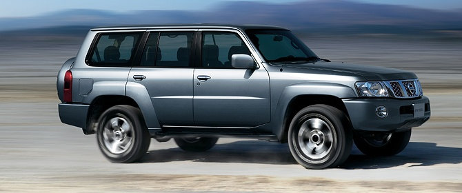 The Nissan Patrol with it's go anywhere ability.
