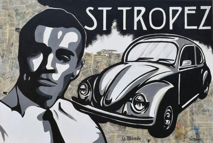 St Tropez pop art schilderij