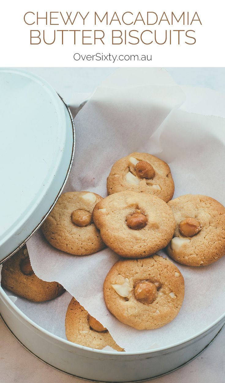 Chewy Macadamia Butter Biscuits - this simple recipe makes the most of the irresistible flavour of macadamias.