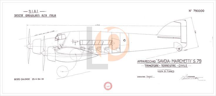 Aeroplano S.I.A.I. Marchetti S.79-Cod. S79-126x56 PROTOTIPO CIVILE