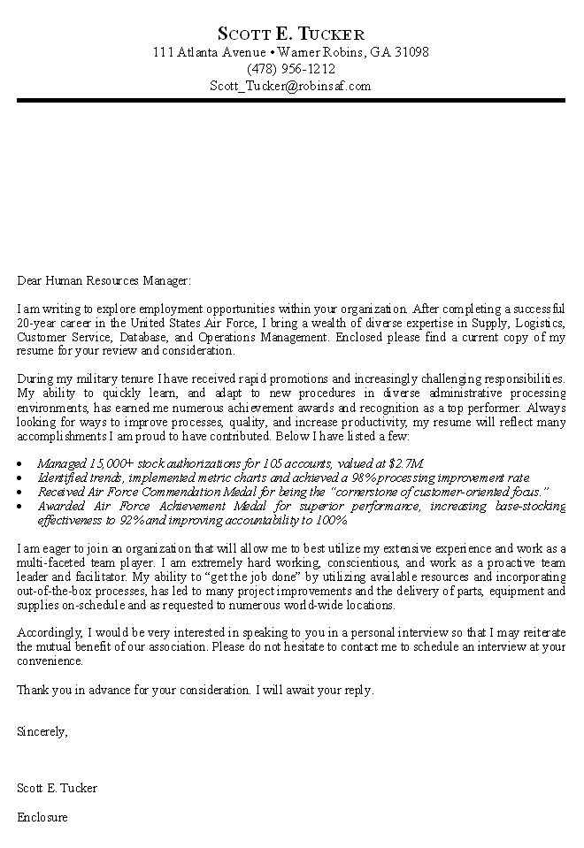 Federal Government Resume Example -    wwwresumecareerinfo - customer service cover letter template