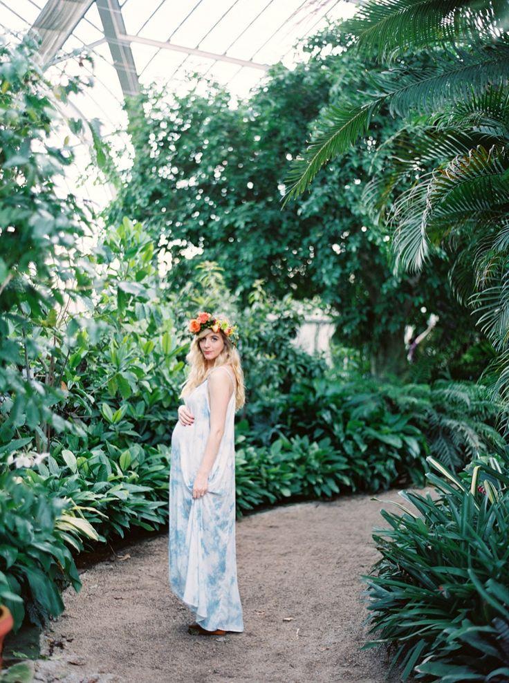 Eb Photography Artistry Alabama Birmingham Botanical Gardens Boho Floral Garden Maternity