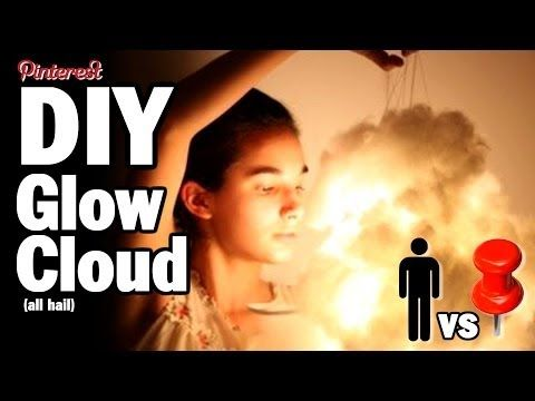 man makes cloud lamp he finds on pinterest<<< ALL HAIL THE MIGHTY GLOW CLOUD