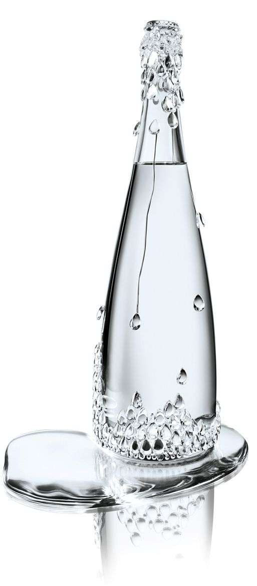Evian Haute Couture Collection: by Jean Paul Gaultier collaborate with Baccarat #packaging #design