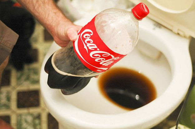Clean your toilet with Coke.  | 20 Simple Tricks To Make Spring Cleaning So Much…