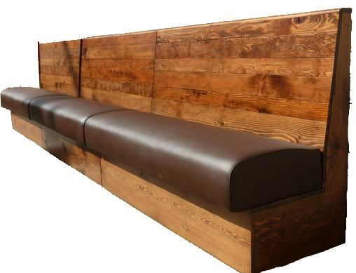Wooden Back Banquette Seating - SF226X