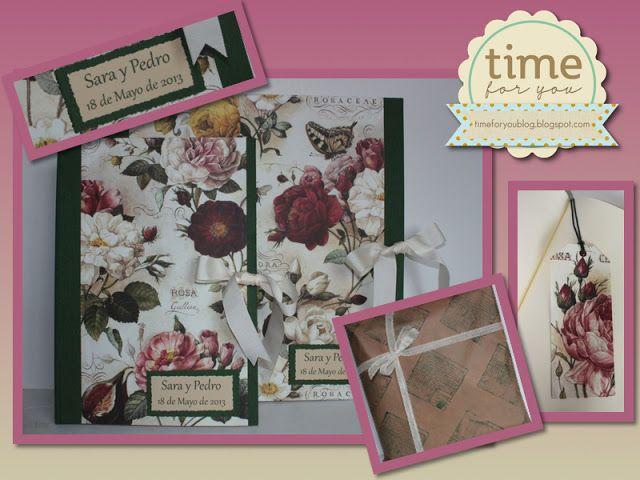 Time for you: Álbum y libro de firmas para boda