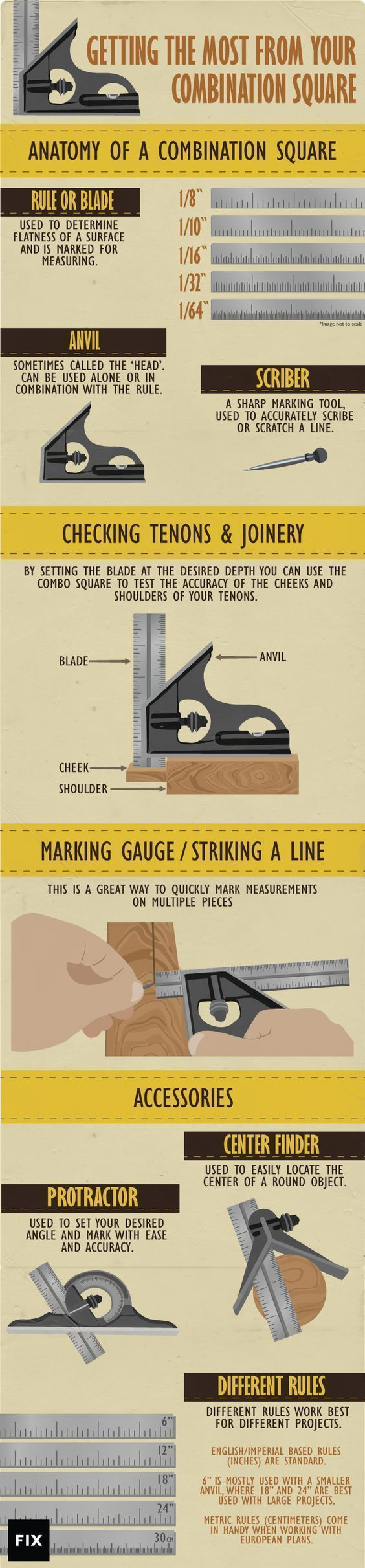 The combination square is a fundamental tool for almost all woodworking jobs, but most people don't know how to properly use it. Get back to basics and learn how a combination square will take your craft to the next level. #WoodworkingTools