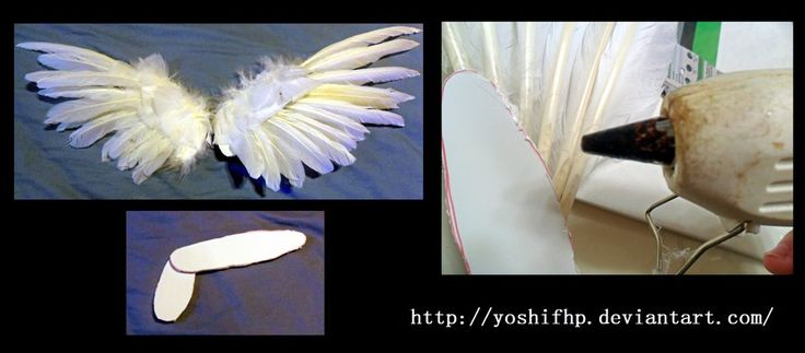 How to make: Feather Angel Wings by YoshiFHP.deviantart.com