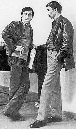 Олег Даль с Владимиром Высоцким