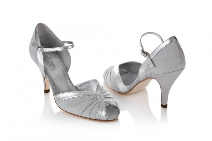 Grey bridesmaid shoes - kitten heeled idea for those who want to ...