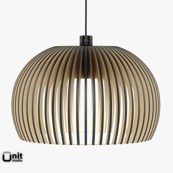3d model atto 5000 light secto - Atto 5000 pendant light by Secto design... by UnitStudio