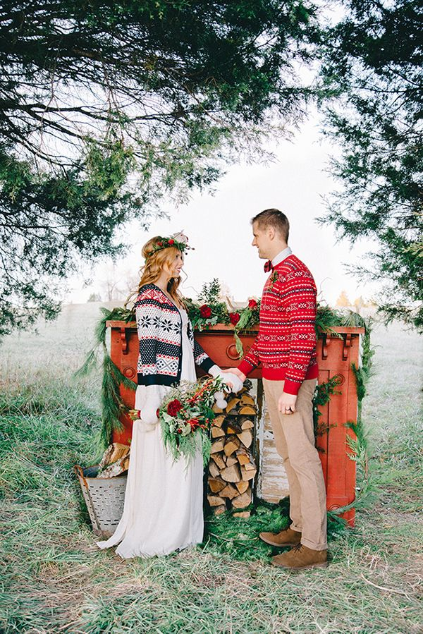 nike air max 1 red suede Holiday Mantel Decor for a Woodland Wedding Ceremony   Nicole Colwell Photography   Festive Styled Wedding in the Winter Woods   with a Corgi in a Holiday Sweater