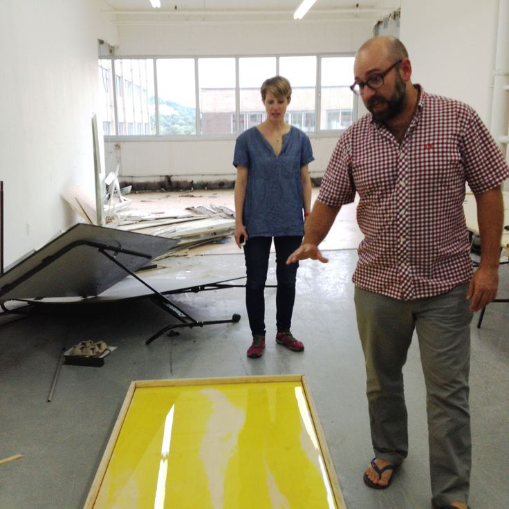 In The Mouth collaborators @ldloyer and @rebeccawest are checking out the results of the slick glossy epoxy finish.