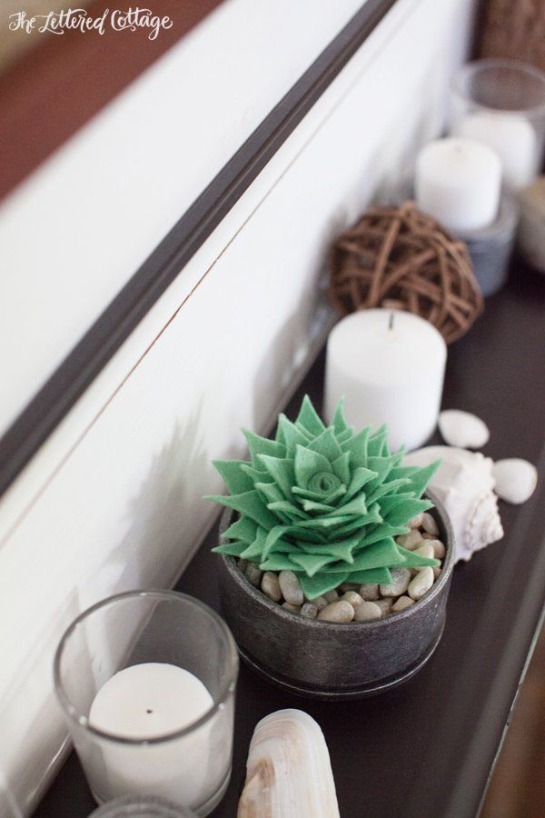 Faux Felt Succulent DIY | The Lettered Cottage