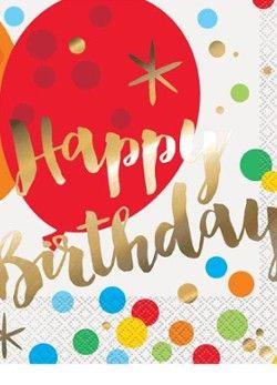 Happy Birthday | Kindergeburtstag | Pink Dots - Partystore