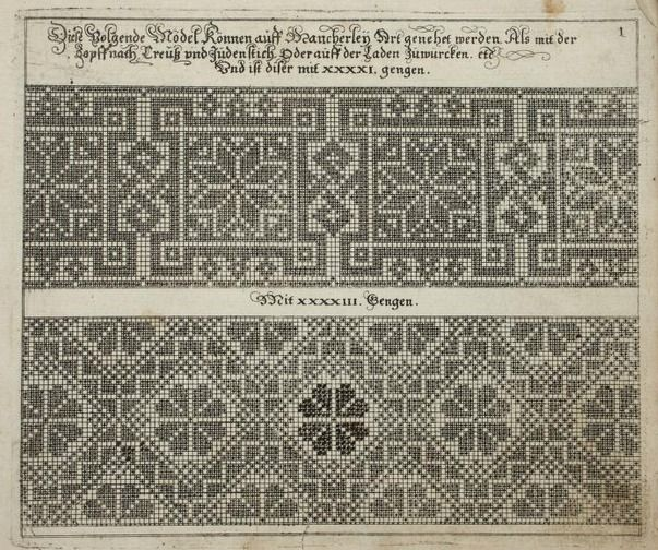 Embroidery patterns from 1611 - available in ebook format. Download here: https://archive.org/details/MAB.31962000791792Images