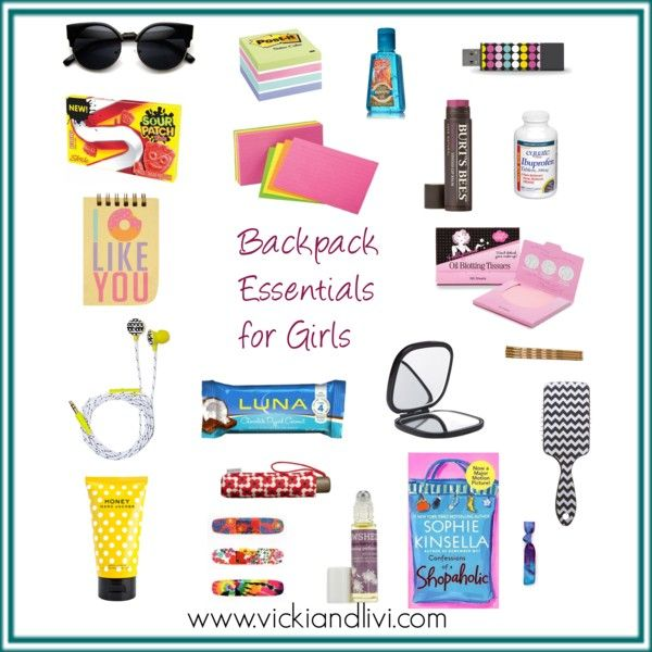 Vicki and Livi: Backpack Essentials for Girls // School is starting again - see our list of backpack essentials on www.vickiandlivi.com!