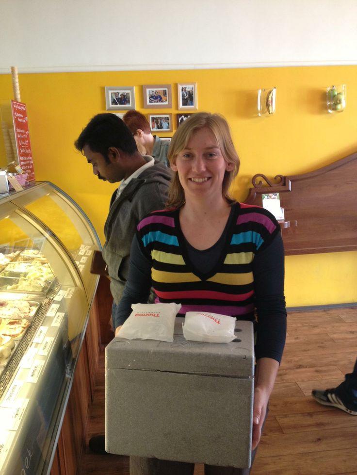 Julia W. wil onse ijs naar Berlijn brengen (voor een feestje) .... #benieuwd
