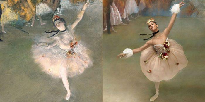 «Прима-балерина» Эдгара Дега в современной интерпретации Мисти Коупленд.