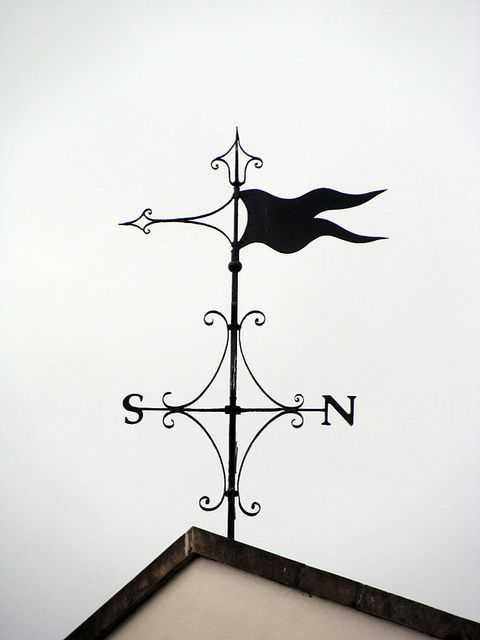 ~ Weather Vane in Clifton, Bristol ~, Maybe monogrammed??