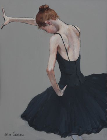 Katya gridneva_Ballerina in Black_Pastel_15x12_1.900.jpg ♥ Wonderful! www.thewonderfulworldofdance.com #ballet #dance: