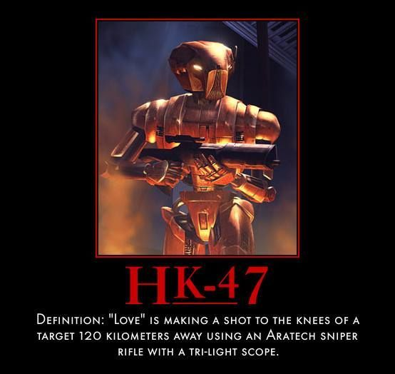 HK-47 Quote: Thought #Provoking Hashtags: The #Maj #Android