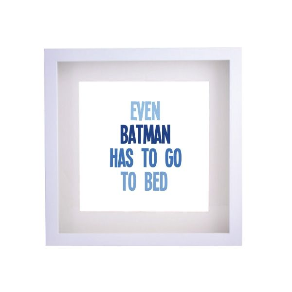 Even Batman has to go to bed framed print | hardtofind.