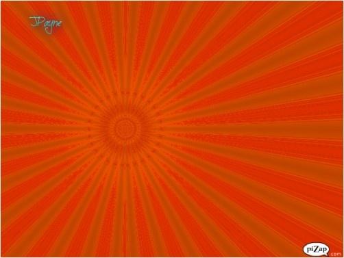 Brilliant Orange Sun