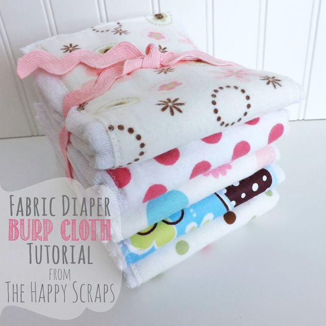 Cloth Diaper to Burp Cloth Tutorial - The Happy Scraps