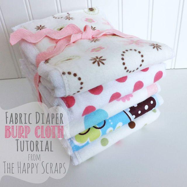 Cloth Diaper to Burp Cloth Tutorial - The Happy Scraps