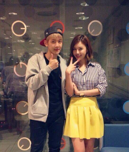 Baekhyun and Eunji | Baekhyun, Kpop, ExoEunji And Baekhyun