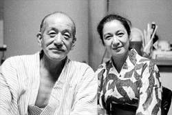 Setsuko Hara & Yasujiro Ozu. The great actor and great director.