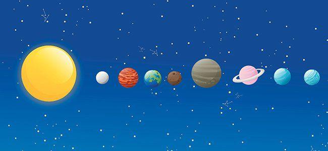 Cuento sobre la formación del Sistema Solar