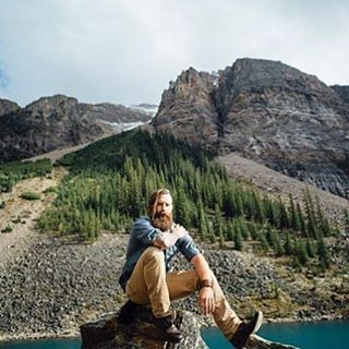 #TeamBeardbrand's @victorios secret took his #beard to hang out at the gorgeous Moraine Lake in Banff National Park in Alberta, Canada. • Photo courtesy of @artur zaitsev and @claire.jenks • #banffnationalpark #alberta #canada #mountains #beards #beardbrand #outdoors #style #community #lifestyle #morainelake