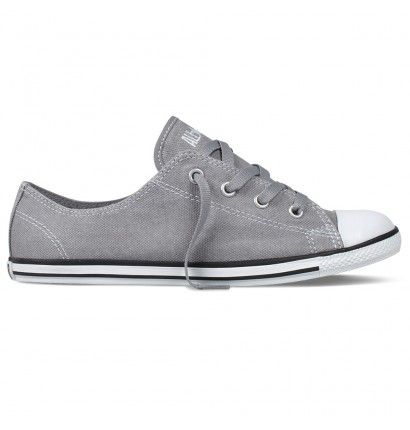Converse Women's Chuck Taylor All Star Dainty Sneakers... what a pretty grey!